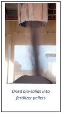 picture of fertilizer pellets being falling out of a chute
