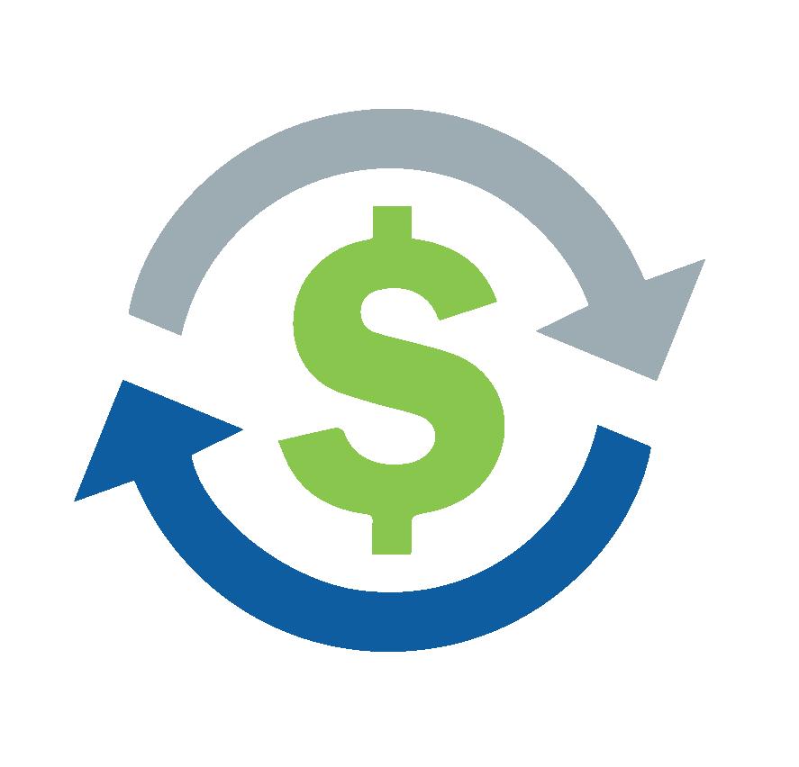 arrows circling money symbol image