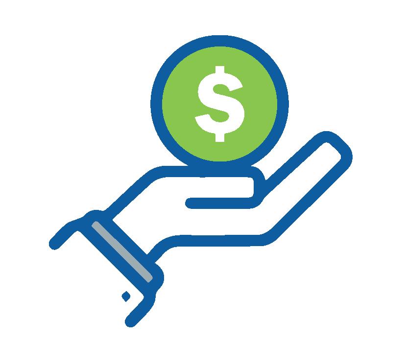 hand holding money symbol image