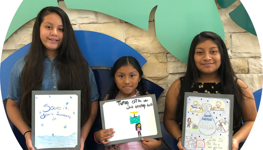 Suri Rodrigues, Ashley Lopez-Sanchez, Maribel Mendoza drop savers poster contest winner photo