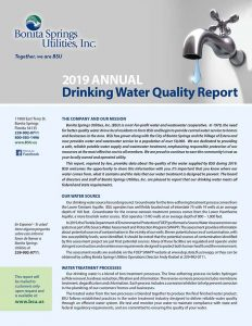 BSU 2019 Water Quality Report cover